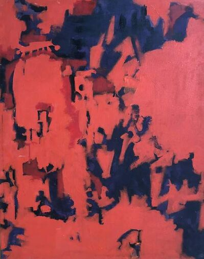 Carl A Alexander, 'Red and Purple', ca. 1950-70s