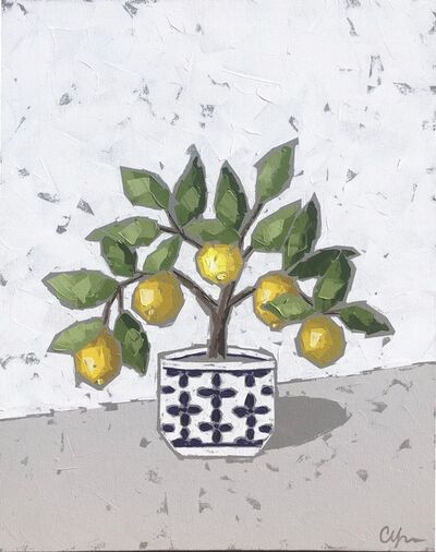 Christie Younger, 'Lemons in Blue and White Pot', 2019