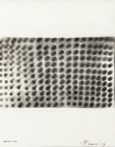 Otto Piene, 'Disegno di fumo', 1959