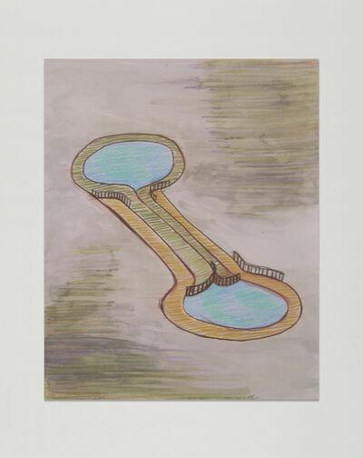 Leda Catunda, 'Dois Lagos', 1995