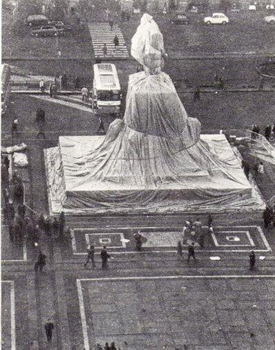 Christo, 'Wrapped Monument Vittorio Emanuele II', 1975