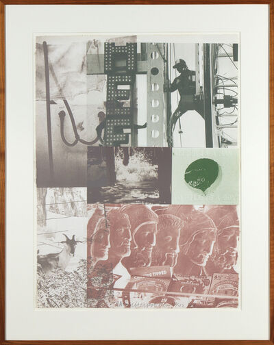 Robert Rauschenberg, 'American Pewter with Burroughs II', 1981