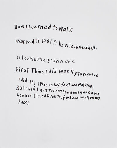 Thomas Pringle, 'Untitled (How I Learned to Walk)', 2007