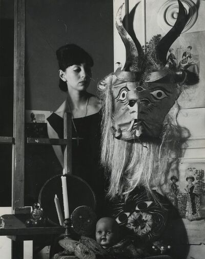 Kati Horna, 'Woman and mask, City of Mexico', 1963