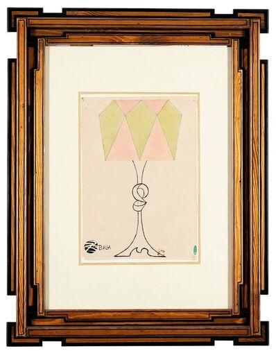 Giacomo Balla, 'Progetto per lampada da tavola', 1918/20