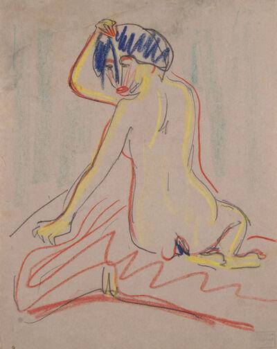 Ernst Ludwig Kirchner, 'Sich umwendender sitzender Akt', ca. 1908