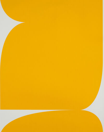 Johan Van Oeckel, ' Untitled (Yellow on Light Grey 2)', 2020