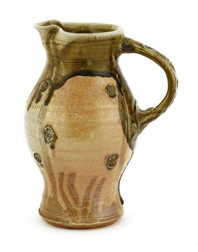 Jeremy Steward, 'a stoneware jug, with sgraffito panels and impressed details'