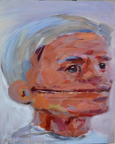 Ben Simon, 'Light Blue Hair Grin Across', 2017