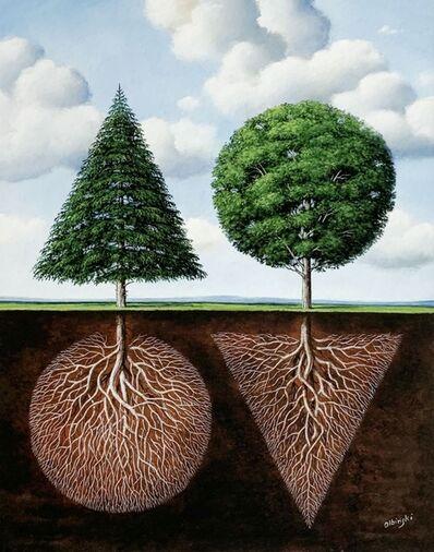 Rafal Olbinski, 'Two trees', 2020