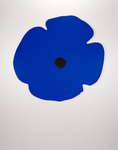 Donald Sultan, 'Wall Poppies (blue)', 2020