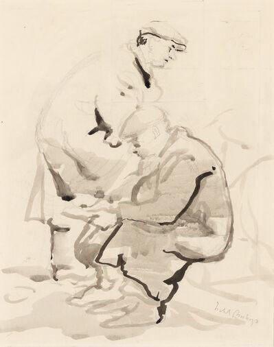 Isabel Bishop, 'Two Union Square Men', 1930