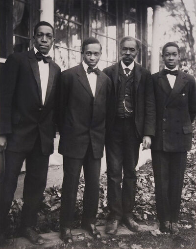 James Van Der Zee, 'III: The Van DerZee Men, Lenox, Massachusetts', 1909