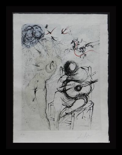 Salvador Dalí, 'Poems Secrets Nude With Guitar', 1967