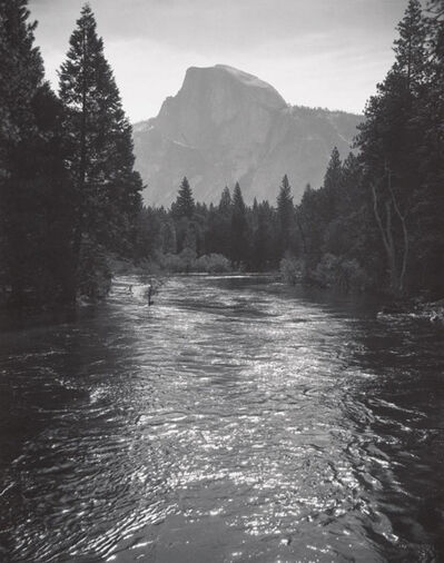 Ansel Adams, 'Half Dome, Sunlight on Merced River, Yosemite National Park', c 1935