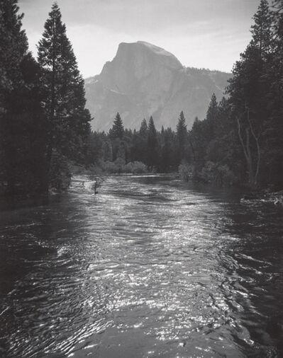 Ansel Adams, 'Half Dome, Sunlight on Merced River, Yosemite National Park', c 1935