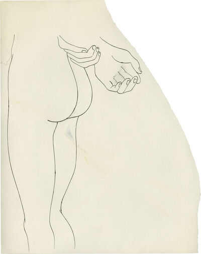 "Andy Warhol, '""n.t. (Nude Lower Torso)""', ca. 1957"