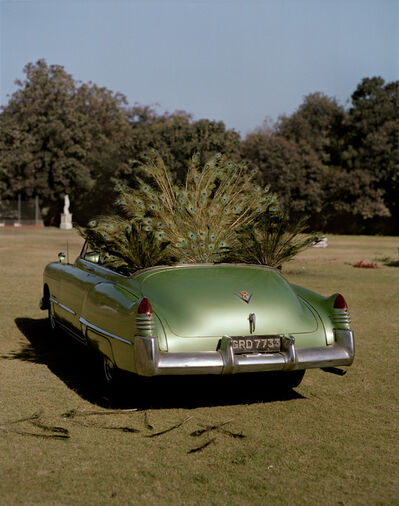 Tim Walker, 'Mint green Cadillac and peacock feathers, Hazur Palace, Gujarat, India', 2008