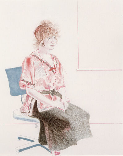David Hockney, 'Celia Seated on an Office Chair', 1974