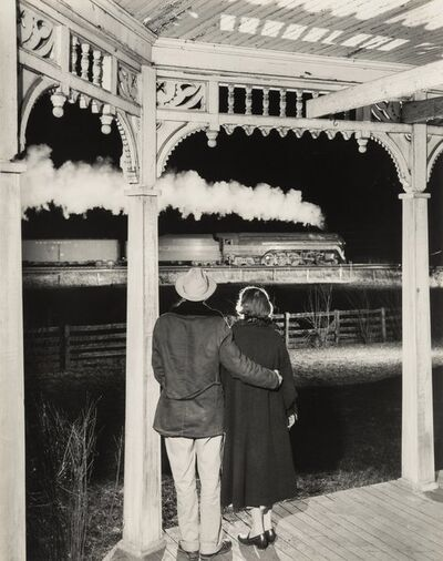 O. Winston Link, 'Mr. and Mrs. Pope Watch the Last Steam Powered Passenger Train, Max Meadows, Virginia'