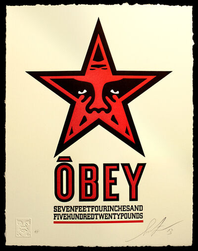 Shepard Fairey, 'Obey Star Letterpress', 2013