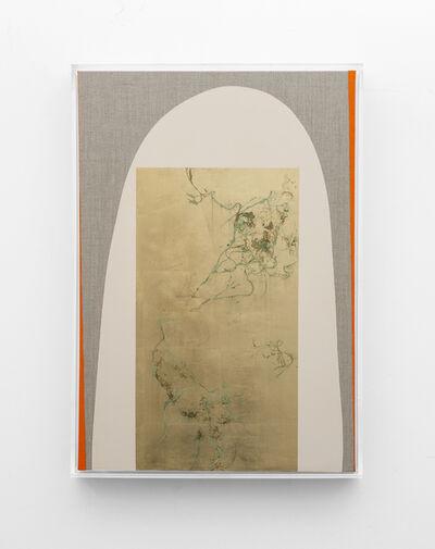 Pierre Vermeulen, 'Hair orchid sweat print, beige with orange', 2019