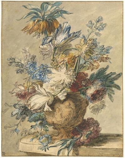 Jan van Huysum, 'Bouquet of Spring Flowers in a Terracotta Vase', 1720s