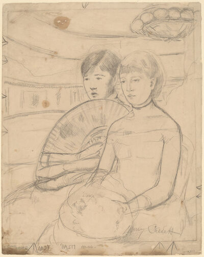 Mary Cassatt, 'The Loge [recto]', 1882