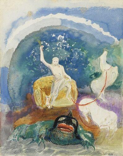 Odilon Redon, 'Apollon chevauchant un monstre vert'