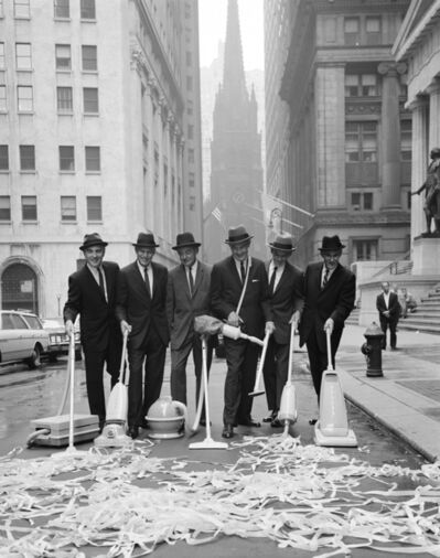 William Helburn, 'Clean New York Campaign, Wall Street', ca. 1960