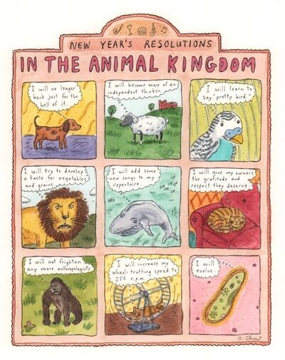 Roz Chast, 'New Year's Resolutions in the Animal Kingdom '