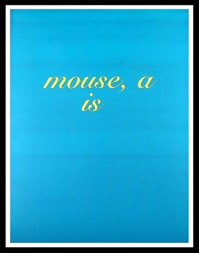 Diana Thater, 'Mouse, A Is', 1996