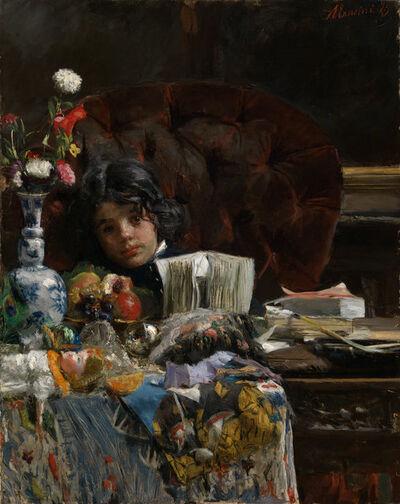 Antonio Mancini, 'The Sulky Boy', 1875