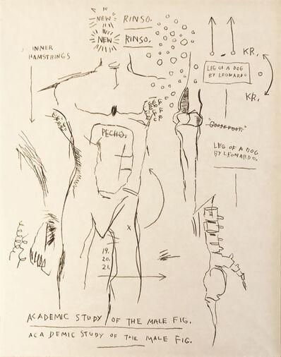 Jean-Michel Basquiat, 'Academic Study of the Male Figure (from the Leonardo series)', 1983