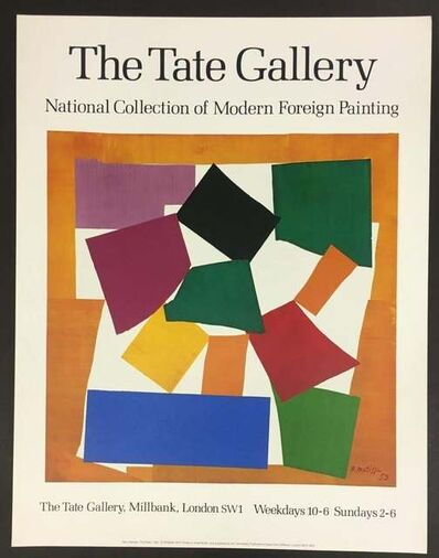 """Henri Matisse, 'The Tate Gallery, National Collection of Modern Foreign Paintings & The Tate Gallery, Millbank, London-Weekdays 10-6, Sundays 2-6: """"The Snail""""', 1979"""