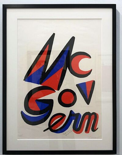 Alexander Calder, 'McGovern for McGovernment (Signed by BOTH Calder and George McGovern)', 1972