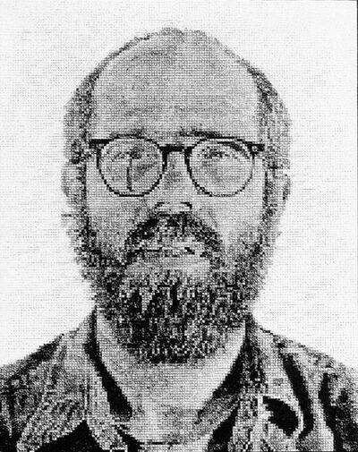 Chuck Close, 'Self-Portrait, White Ink', 1978