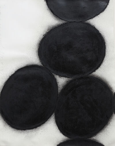 Donald Sultan, 'Six Black Eggs', 1989