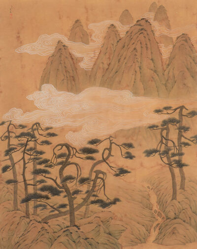 Chung-Ming Su, 'Ancient Pines and Rapid Current 古松飛湍', 2011