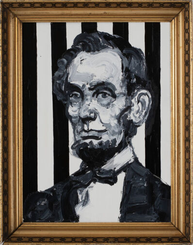 Hunt Slonem, 'Striped Pres.Lincoln ', 2019