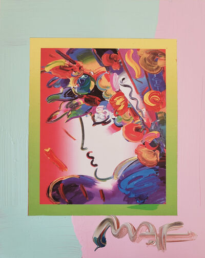 Peter Max, 'Peter Max, Blushing Beauty on Blends 2007 #2253 (Framed Original Painting)', 2007