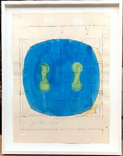 Ron Gorchov, 'Untitled mixed media watercolor on paper, inscribed to Robert Vogele', 1978