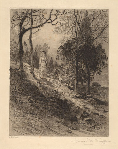 James David Smillie, 'The Way to the River', 1880