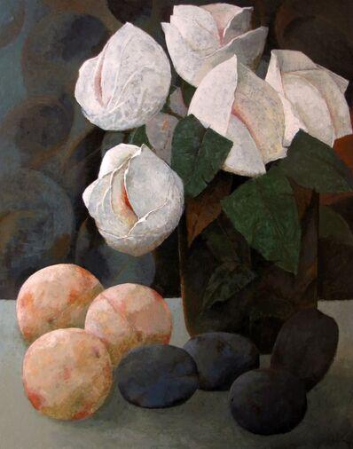 Pierre Lefebvre, 'Fleurs, pêches, prunes', 2019