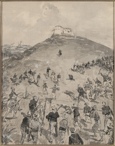 William James Glackens, 'The Attack on the Blockhouse at El Caney'
