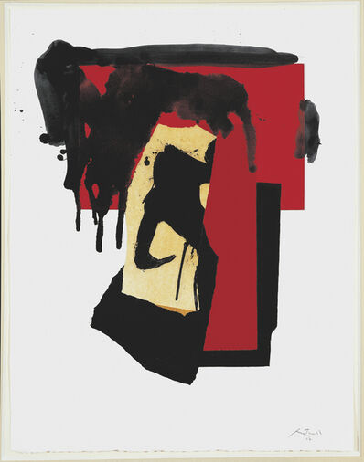 Robert Motherwell, 'The Red and Black No. 4', 1987/1988
