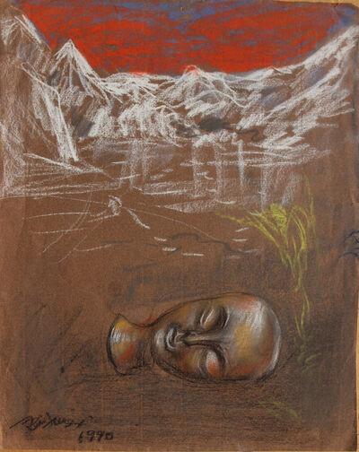 Pei Zhuangxin, 'Sketch ⼿稿《雪⼭的夢》', 1990