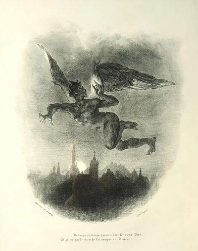 Eugène Delacroix, 'Méphistophélès Dans les Airs', 1828