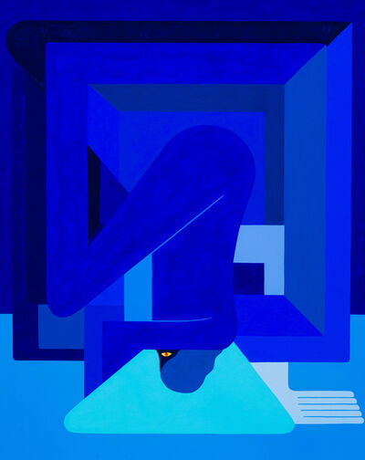 Richard Colman, 'Inverted, (Blue Figure) Left Facing', 2018