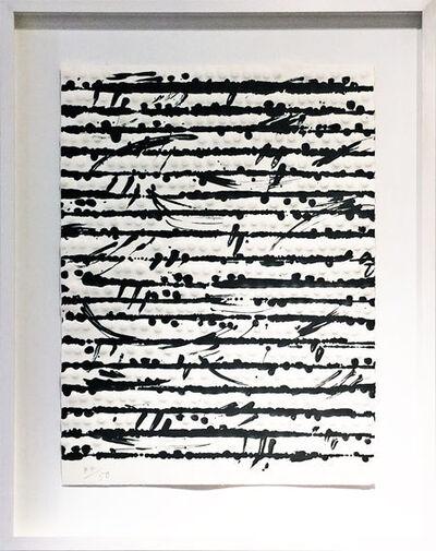 Günther Uecker, 'Optische Partitur II', 2012